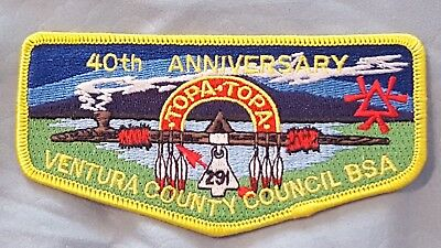 OA Topa Topa Lodge 291 40th Anniversary Flap Boy Scouts of America