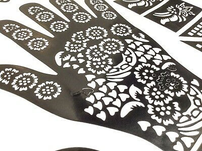 Henna Tattoo Stencil -Mehdi - Arabic Stencil - Peel And Stick + Red henna powder