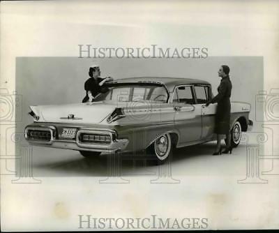 1956 Press Photo The 1957 Mercury Montclair four-door sedan - cvb37240