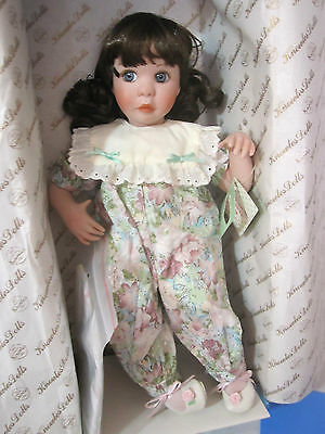 "NEW COA EDWIN KNOWLES My Closet Friend Stephanie Me and my Blankie 15"" Doll"