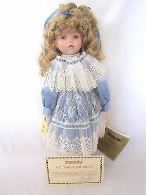 "NEW Seymour Mann Connoisseur Collection Doll 16"" Hand Painted Porcelain"