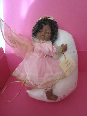 "NEW SHOW STOPPER Moon Dream African Angel Baby Doll Wings 12"" Cotton"