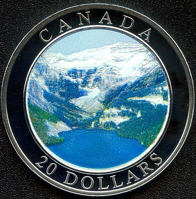 """Canada Mint 2003 20 Dollar """"Rocky Mountains"""" With Paper 25734/ 35000"""