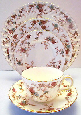 Four Minton Fine Bone China Ancestral Five Piece Place Settings -20 Pieces