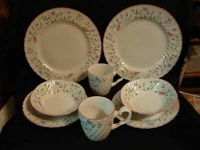 JOHNSON BROTHERS BROS SUMMER CHINTZ 8 pc LOT DINNER PLATES SOUP BOWLS SALAD