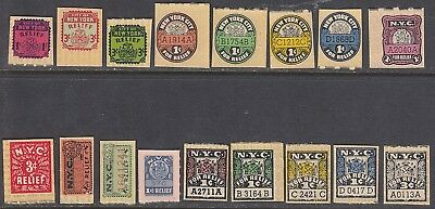 StateRevs: 17 Different Local Tax Stamps From New York City!!