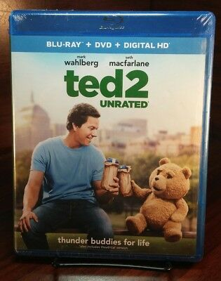 Ted 2 (Blu-ray/DVD, 2015, 2-Disc Set, Includes Digital Copy)NEW-Free Shipping