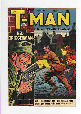 T-Man #17 - Vg 3.5 - Scarce Late Golden Age - Red Triggerman! - 1954
