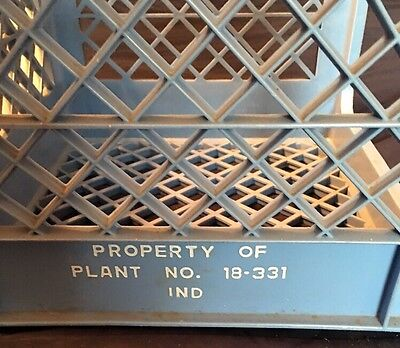 Vintage Heavy Duty Plastic Milk Crate for Plant 18-331 Ind