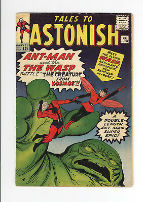TALES TO ASTONISH #44 - 1st APPEARANCE OF The WASP - NICE But Missing Page  1963
