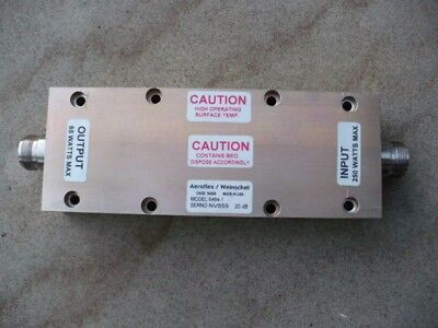 2 RF Attenuator High power 250 Watts Ghz Mhz Cobham Aeroflex Weinschel Test Load
