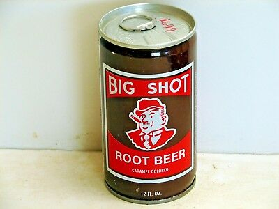 Big Shot Root Beer; Jefferson Bottling Co.; Metairie, LA; steel soda pop can