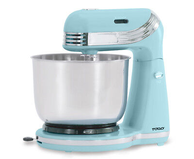 Todo 6 Speed Electric Stand Mixer Stainless Steel Bowl Retro Serenity Blue Xj...
