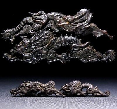 "Fine MENUKI 18-19th C Japanese Edo Antique Koshirae fitting ""Dragon"" e662"