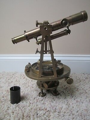 Antique William J. Young & Sons Transit With Tripod 1875 Serial Number 4847