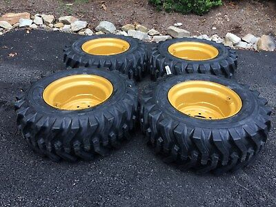 4 NEW Camso sks332  12X16.5 Skid Steer Tires & Rims for Volvo or Scat Trak