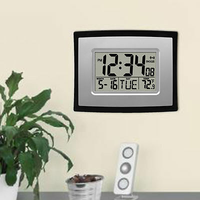 Digital LCD Multi Function Temperature Clock Alarm Calendar Wall /Table Clock BO