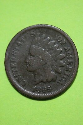 Low Grade 1865 Indian Head Cent Exact Coin Shown Flat Rate Shipping OCE 198
