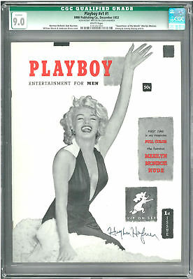 CGC 9.0 Hefner Autographed 1953 Original #1 PLAYBOY with WHITE Pages (JSA LOA)