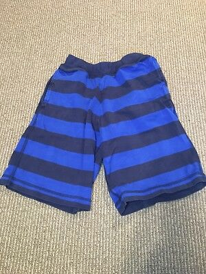 Hanna Andersson Pajama Bottoms Shorts striped Cotton Blue Sz 8 130cm
