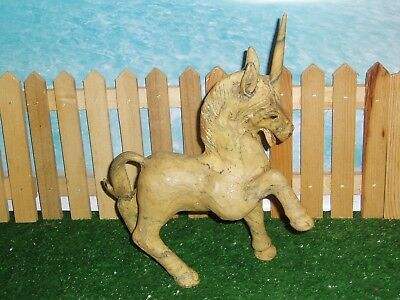 Vintage Unicorn Prancing Position - Rare And Hard To Find - Wooden