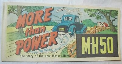 "Vtg 1955 Massey-Harris MH50 Tractor COMIC BOOK Brochure ""More Than Power"" 32-pgs"
