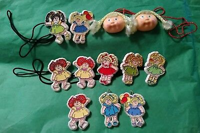 Vintage Cabbage Patch Kids Barrettes Hair Ties Ponytail Holders Lot of 12 1983