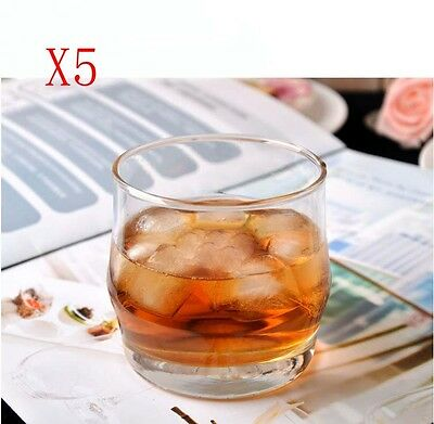 New 5X Capacity 340ML Height 85MM Transparent Whiskey Wine Glass/Glassware %
