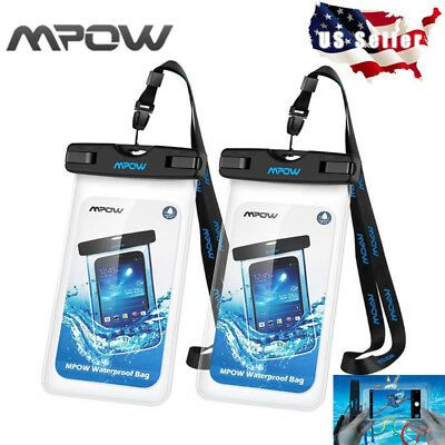 2 PACK Mpow Universal Waterproof Case IPX8 Waterproof Phone Pouch Dry Bag USA