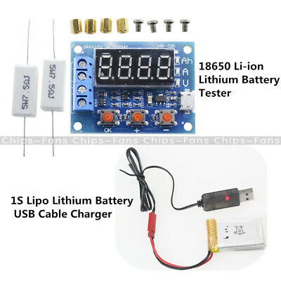HW-586 Li-ion Lithium Battery Capacity Meter Tester + Lithium Battery USB Cable