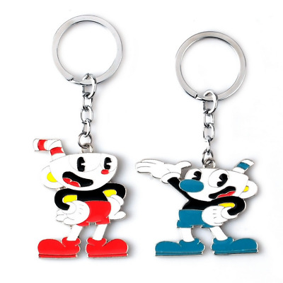 Game Cuphead Cuphead-Mugman Keychain Devil Collectible Necklace Keyrings Chain