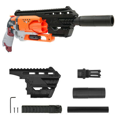 MaLiang 3D Print Hand Cannon Silencer Kit Black for Nerf HammerShot Modify Toy