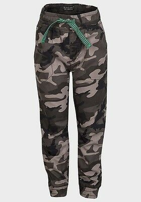 Boys Army Camo Trousers Kids Green Combat Camouflage Cargo Bottoms New 1-4 Years