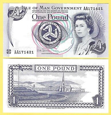 Isle of Man 1 Pound p-40c 2009 UNC