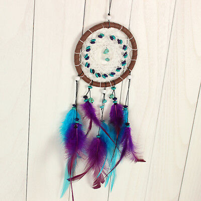 Large Dream Catcher Net Colorful Feathers Wall Home Office Hanging Ornament
