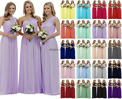 New Long Formal Chiffon Evening Party Ball Gown Prom Bridesmaid Dress Size 6-24+