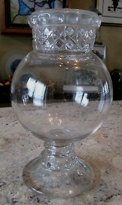 Antique Large Dakota Glass Apothecary Candy Store Drugstore Jar No Lid