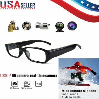 Mini HD Camera Glasses 1080P Hidden Eyeglass Sunglasses Cam Eyewear DV DVR