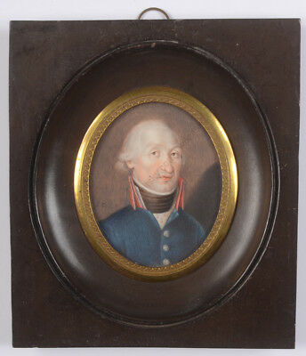 "Stefano Casabona ""Officer of French Republican Army"", miniature, ca. 1800"