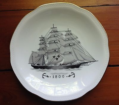 Vintage China Ship Plate Rorstrand  Sweden Sverige dated 1800; Price Reduced
