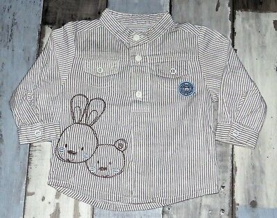~ Chemise blanche rayée PETIT KIMBALOO Taille 3 mois ~
