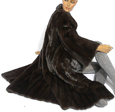 Dunkel nerz Pelzmantel Damen Pelz Nerzmantel Nerz dark mink fur coat mantle Fell