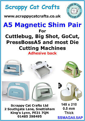 PressBoss etc by Scrappy Cat SSMAGA4.5 A4  Magnetic Shim 3 pack for Presscut