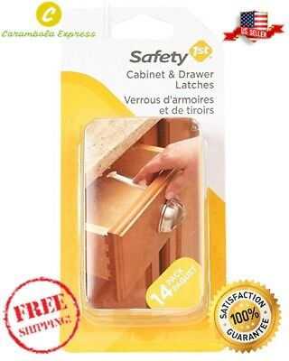 14 Pack Baby Proof Wide Grip Lock Latch Drawer Door Child Safety  Cabinet Latche