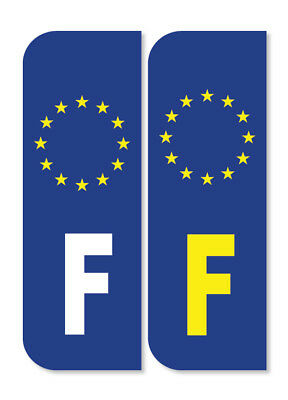 2 x FRANCE FRENCH Euro Car Number Plate vinyl stickers