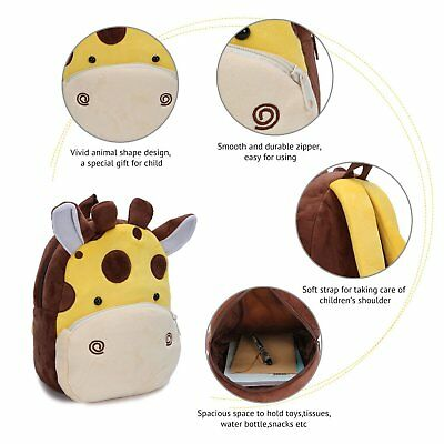 Toddlers Cute Backpack Animal Cartoon Mini Children Bag for Baby (1-3 Years)