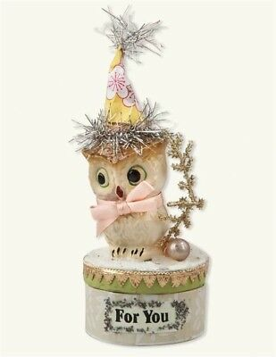 Victorian Trading Co Owlette in Party Hat  FOR YOU Gift Box