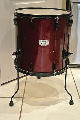 """ADD this PEARL EXPORT SERIES 16"""" FLOOR TOM in RED WINE to YOUR DRUM SET! #A224"""