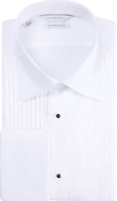 Men's White Tuxedo Shirt - Suitsupply - original price $119 - worn only once !