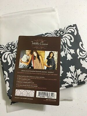 Udder Covers Breast Feeding Nursing Cover Black and White Grace